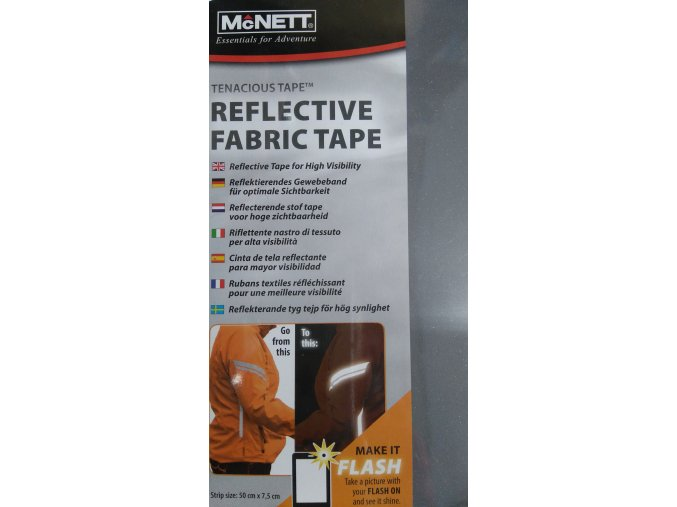 McNETT Reflective fabric tape - reflexní páska