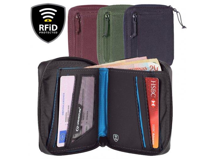 Lifeventure RFiD Bi-Fold Wallet - Peněženka
