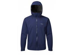 down pour jacket modrá