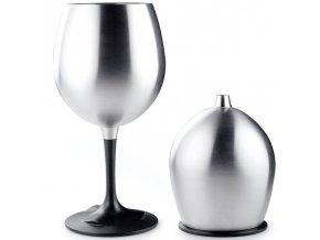 GSI Outdoors Glacier Stainless Nesting Red Wine Glass - Sklenička na víno