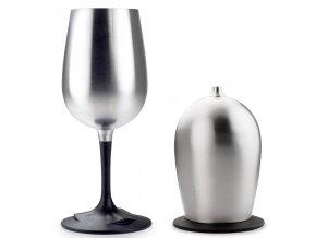 GSI Outdoors Glacier Stainless Nesting Wine Glass - Sklenička na víno