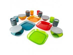 GSI Outdoors Infinity 4 Person Deluxe Tableset, Multicolor - Sada nádobí