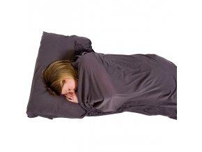 Lifeventure Cotton Stretch Sleeping Bag Liner -  grey rectangular - vložka do spacáku