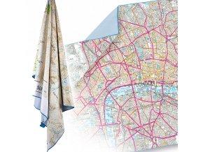 Lifeventure SoftFibre OS Map Towel - Absorbční a rychleschnoucí ručník
