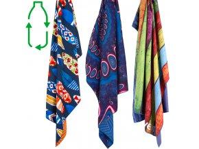 Lifeventure Printed SoftFibre Trek Towel Recycled - Rychleschnoucí antibakteriální ručník s potiskem