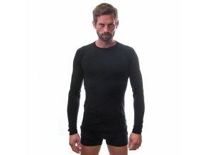 SENSOR MERINO DF pánské triko dl.rukáv černá Velikost: L
