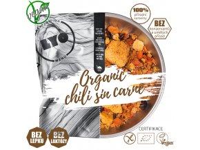 Chili sin carne; běžná porce