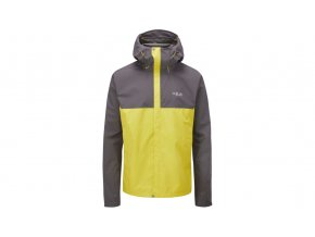 opplanet rab downpour eco jacket mens graphene zest small qwg 82 gz s main