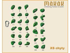 MAKAK XS setík - lezecké chyty