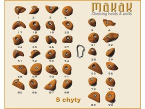 MAKAK S setík - lezecké chyty