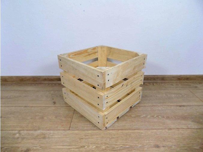 Dřevěná bedýnka Čtvercová 30x30x25 2