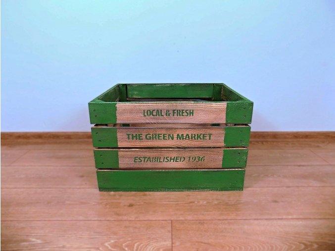 Dřevěná bedýnka 50x40x30 patina market 1
