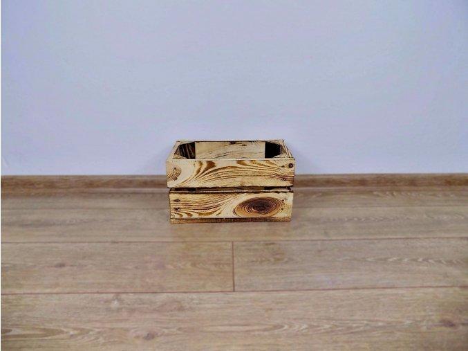 Dřevěná bedýnka 30x17x16 opálená 1