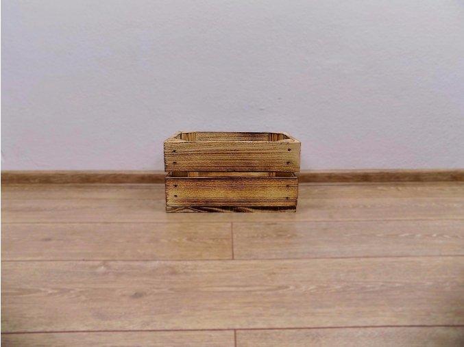 Dřevěná bedýnka 30x20x16 opálená 1