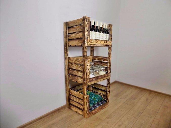 Dřevěná bedýnka REGÁL 135x65x40 cm