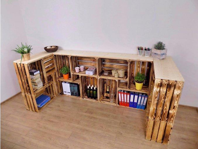 Dřevěná bedýnka PULT U 230x100x30 2