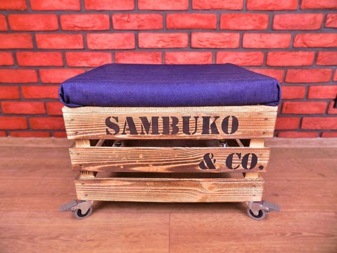 50X40X25 Jeans Sambuko Co opálená kolečka mini