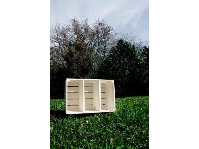 Dřevěná bedýnka KNIHOVNIČKA 60x40x30