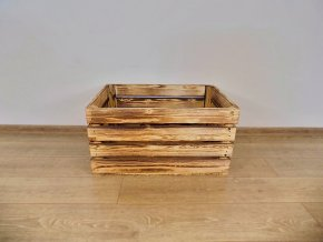Dřevěná bedýnka 60x40x30 opálená 1