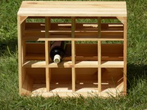 Dřevěná vinotéka 50x40x30