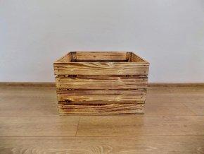 Dřevěná bedýnka 50x40x30 opálená ohněm