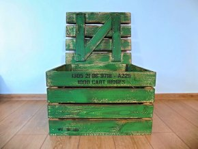 dřevěná bedýnka TRUHLA PATINA VOJENSKÁ 50x40x30 cm 4