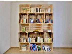 Dřevěná bedýnka knihovna 160x220x30 cm