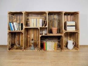 Dřevěná bedýnka knihovna 180X100X30CM