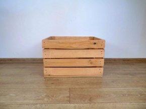 dřevěná bedýnka borovice 50x40x30 cm mořená odstín borovice