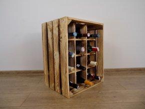 Dřevěná vinotéka 50x40x30 opálená 4