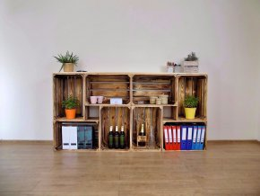 Dřevěná bedýnka PULT 200x100x30