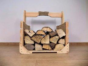 Dřevěná bedýnka nosič dříví