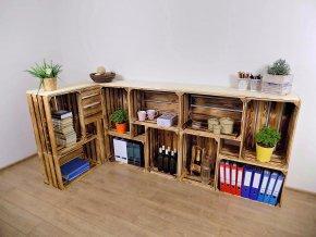 Dřevěná bedýnka PULT L 230x100x30 2