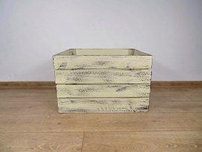 dřevěná bedýnka 50x40x30 cm patina Ivory