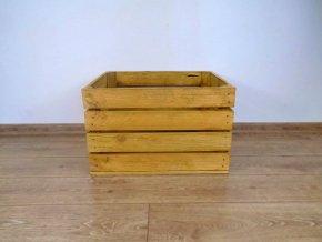 Dřevěná bedýnka MOŘENÁ SVĚTLÝ DUB