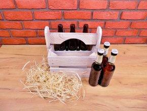 pivní nosič patina schabby chic bílá mini