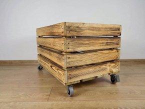 Dřevěná bedýnka přepravka 60x40x30 cm OPÁLENÁ 2 mini