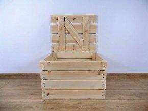 dřevěná bedýnka TRUHLA PŘÍRODNÍ 50x40x30 cm 2