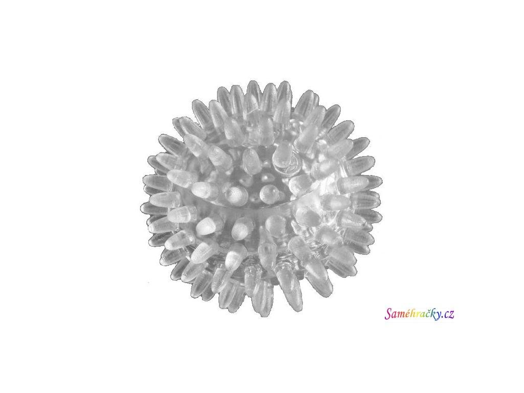 Ježek, masážní míč, průhledný (Velikost 10 cm)