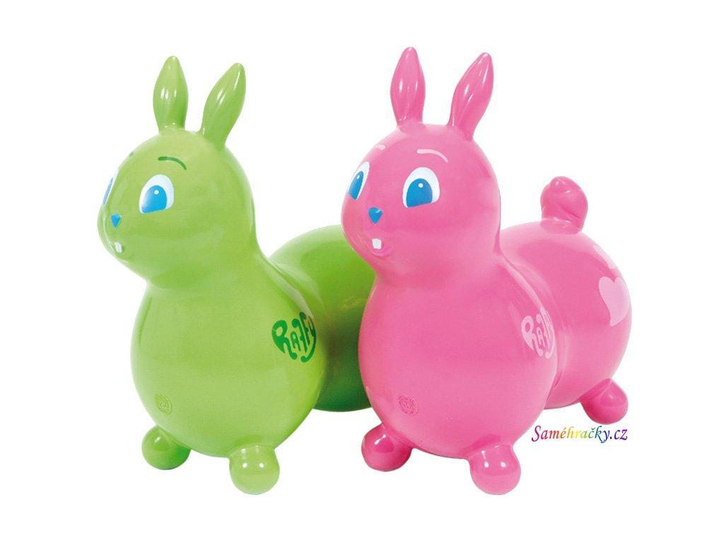 Ledraplastic Skákací králík Raffy (Barva Růžový)