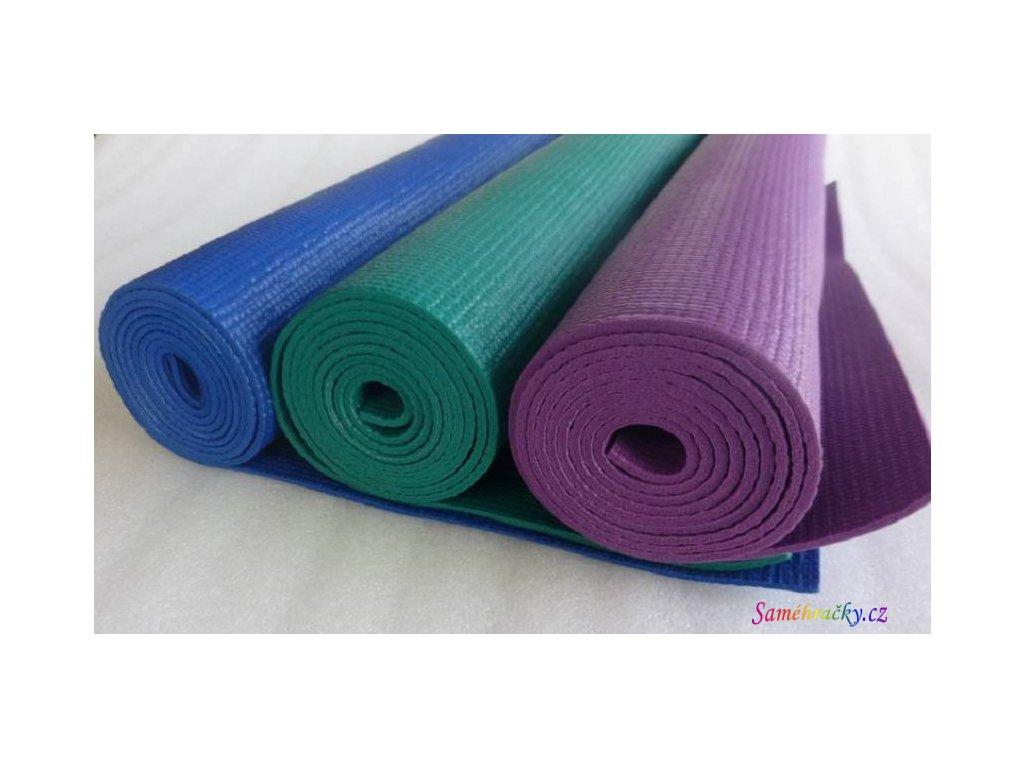 Cvičební podložka YOGA 173x59x0,4 cm (Barva Fialová)
