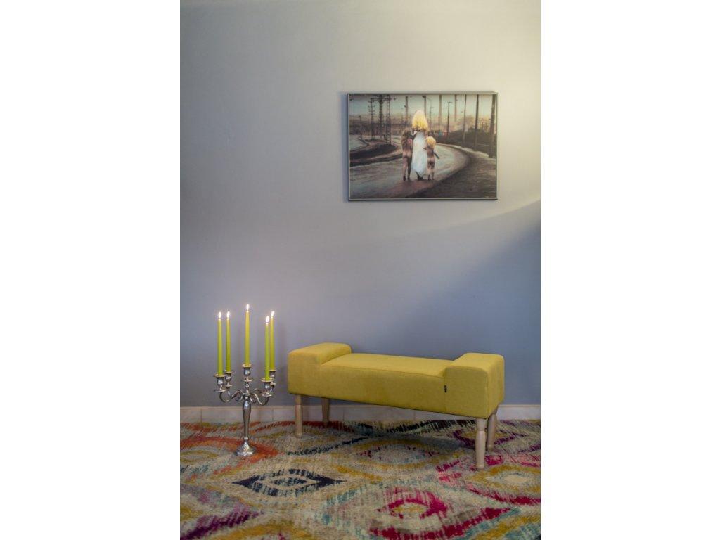 LINE HONEY - colored  lavička do obývačky či predsiene