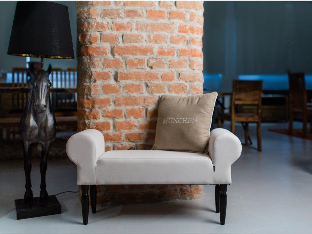 NOVINKA - LIGHT GRAY  lavička do obývačky či predsiene
