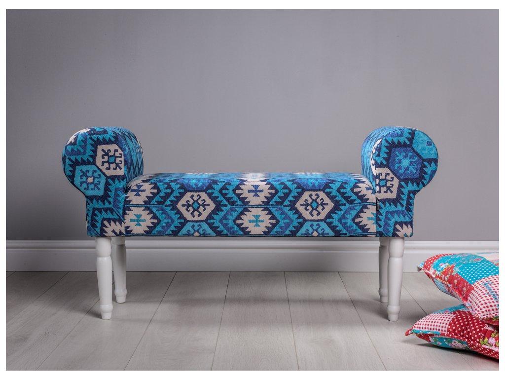 LAVICA INDIAN TYRKYS  lavička do obývačky či predsiene