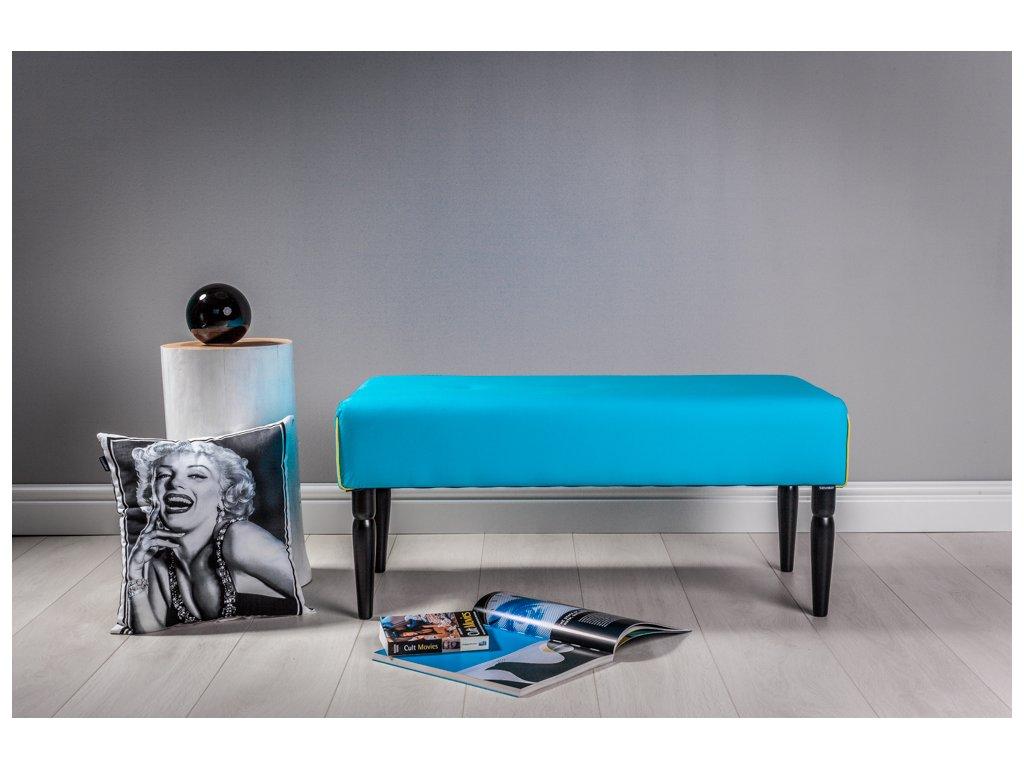 LAVICA EASY - TYRKYS  lavička do obývačky či predsiene