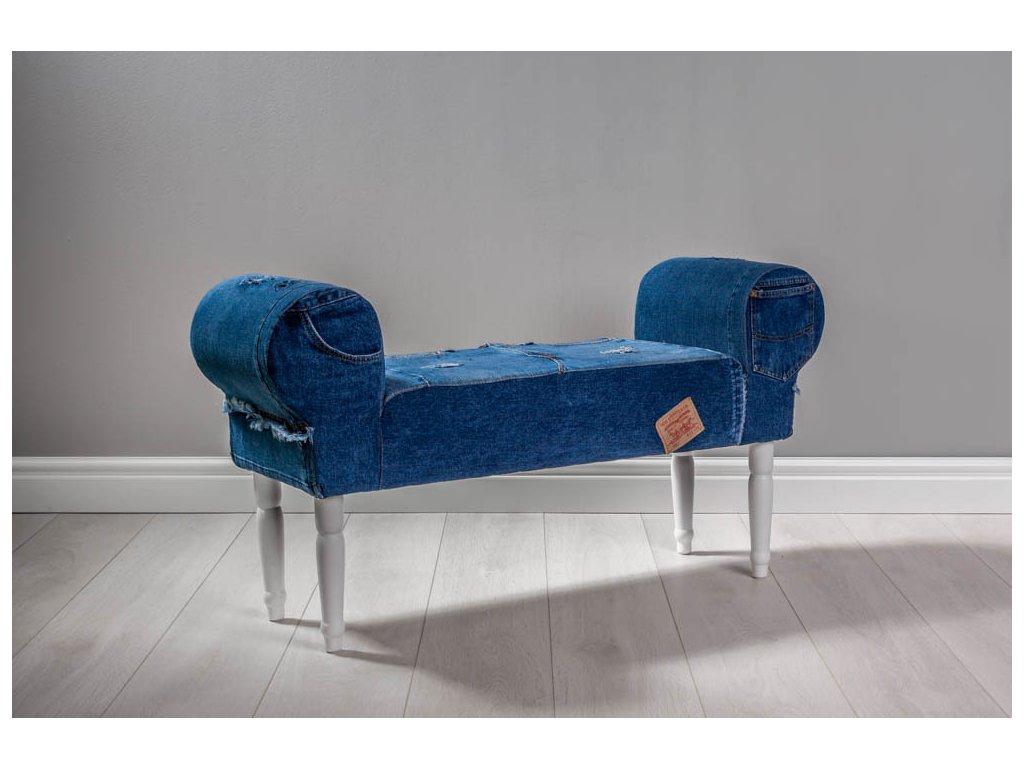 LAVICA JEANS III  lavička do obývačky či predsiene