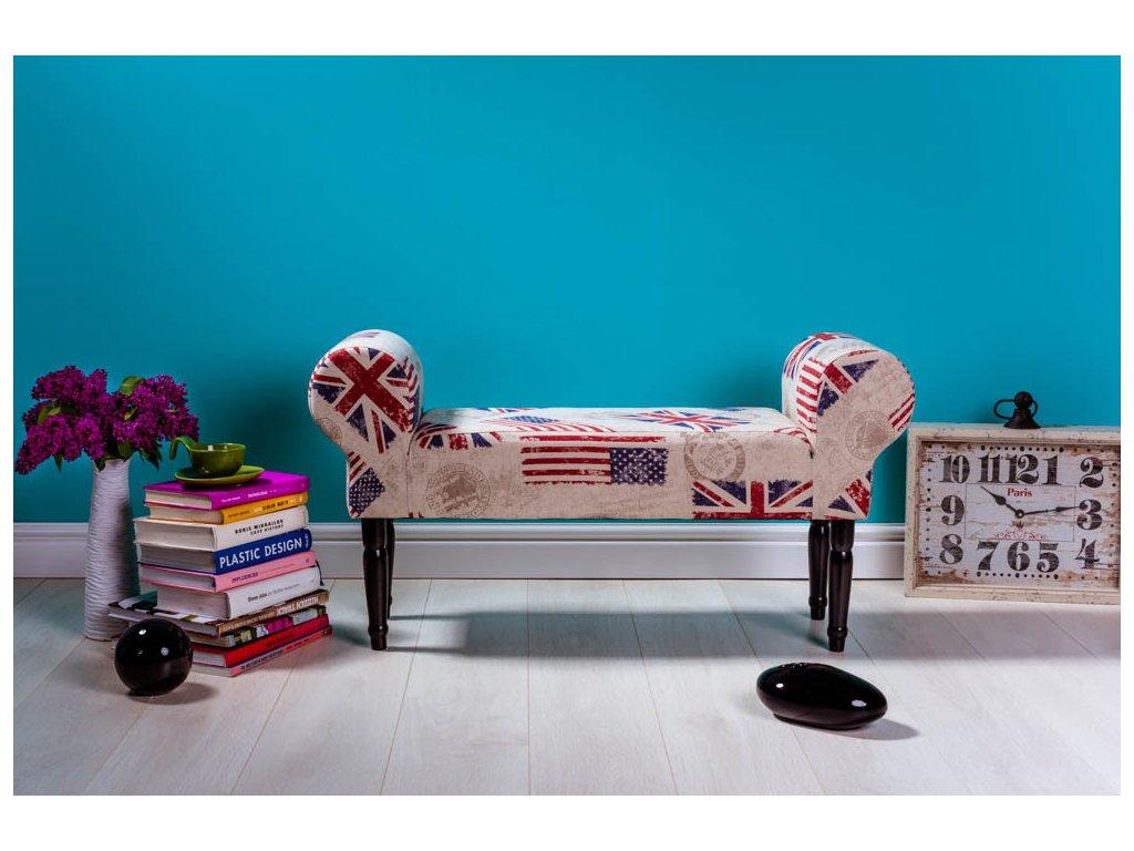 LAVICA ENGLISH  lavička do obývačky či predsiene