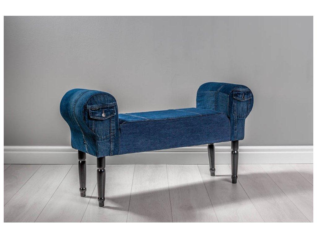 LAVICA JEANS II  lavička do obývačky či predsiene