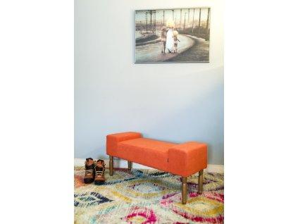 LINE BRICK - color  lavička do obývačky či predsiene