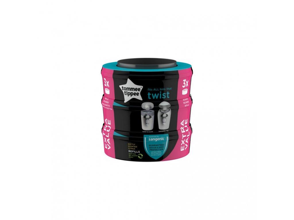 cz tommee tippee sangenic twist 3x cassette sametic kompatibilni no box
